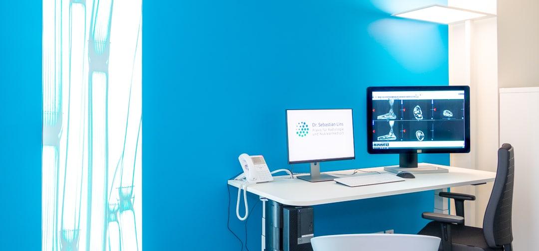 Blick in die Praxis Dr. Sebastian Lins - Radiologie und Nuklearmedizin